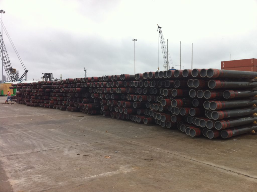 Pipe shipping by break bulk